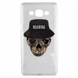 Чехол для Samsung A5 2015 Skull in hat and text