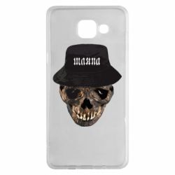 Чехол для Samsung A5 2016 Skull in hat and text