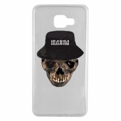 Чехол для Samsung A7 2016 Skull in hat and text