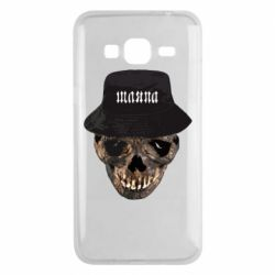 Чехол для Samsung J3 2016 Skull in hat and text