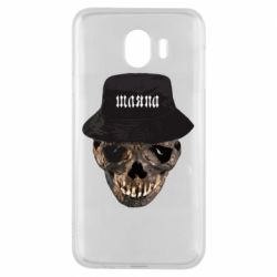 Чехол для Samsung J4 Skull in hat and text