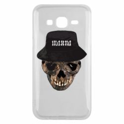 Чехол для Samsung J5 2015 Skull in hat and text