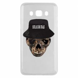 Чехол для Samsung J5 2016 Skull in hat and text