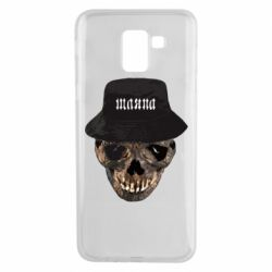 Чехол для Samsung J6 Skull in hat and text