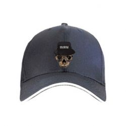 Кепка Skull in hat and text