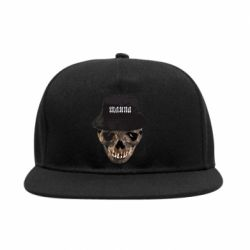 Снепбек Skull in hat and text
