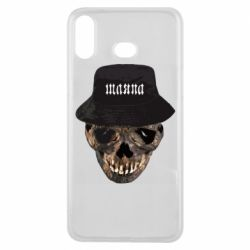 Чехол для Samsung A6s Skull in hat and text