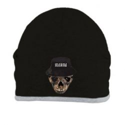 Шапка Skull in hat and text