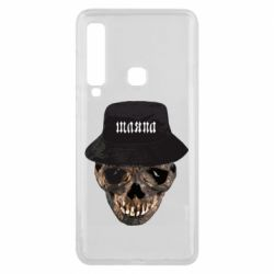 Чехол для Samsung A9 2018 Skull in hat and text
