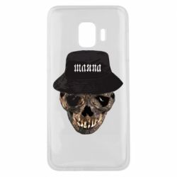 Чехол для Samsung J2 Core Skull in hat and text