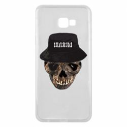 Чехол для Samsung J4 Plus 2018 Skull in hat and text