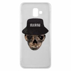 Чехол для Samsung J6 Plus 2018 Skull in hat and text