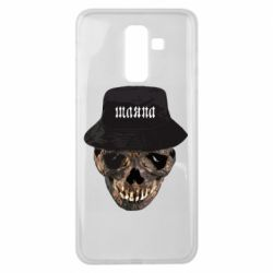 Чехол для Samsung J8 2018 Skull in hat and text