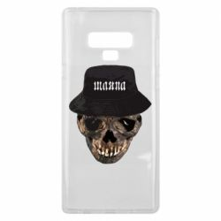 Чехол для Samsung Note 9 Skull in hat and text