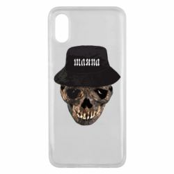 Чехол для Xiaomi Mi8 Pro Skull in hat and text