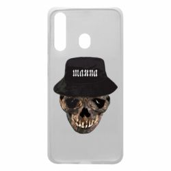Чехол для Samsung A60 Skull in hat and text