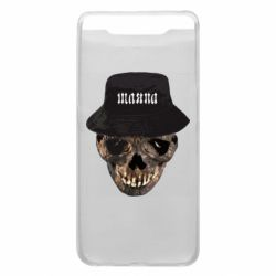 Чехол для Samsung A80 Skull in hat and text