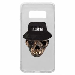 Чехол для Samsung S10e Skull in hat and text