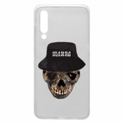 Чехол для Xiaomi Mi9 Skull in hat and text
