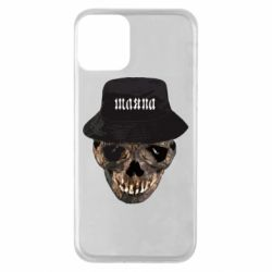 Чехол для iPhone 11 Skull in hat and text