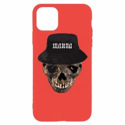 Чехол для iPhone 11 Pro Skull in hat and text