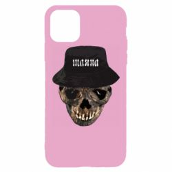 Чехол для iPhone 11 Pro Max Skull in hat and text