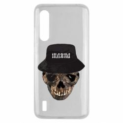 Чехол для Xiaomi Mi9 Lite Skull in hat and text
