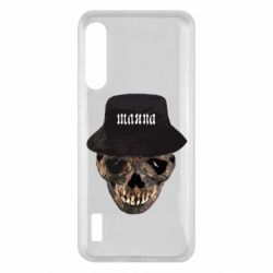 Чохол для Xiaomi Mi A3 Skull in hat and text