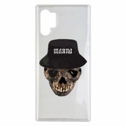 Чехол для Samsung Note 10 Plus Skull in hat and text