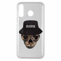 Чехол для Samsung M30 Skull in hat and text
