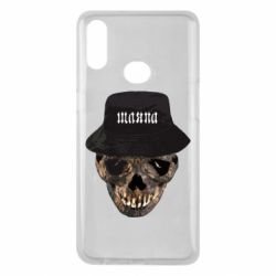Чехол для Samsung A10s Skull in hat and text