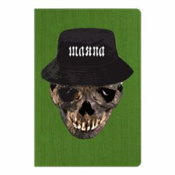 Блокнот А5 Skull in hat and text