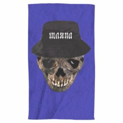 Полотенце Skull in hat and text