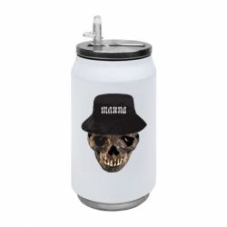 Термобанка 350ml Skull in hat and text