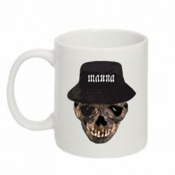 Кружка 320ml Skull in hat and text