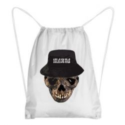 Рюкзак-мешок Skull in hat and text
