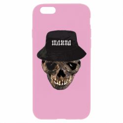 Чехол для iPhone 6 Plus/6S Plus Skull in hat and text
