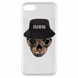 Чехол для iPhone 7 Skull in hat and text