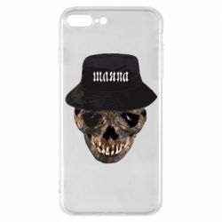 Чехол для iPhone 7 Plus Skull in hat and text