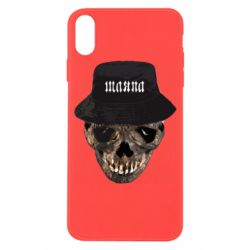 Чехол для iPhone X/Xs Skull in hat and text