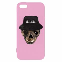 Чехол для iPhone5/5S/SE Skull in hat and text