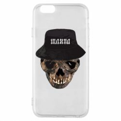 Чехол для iPhone 6/6S Skull in hat and text