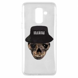 Чехол для Samsung A6+ 2018 Skull in hat and text