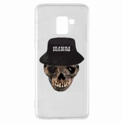 Чехол для Samsung A8+ 2018 Skull in hat and text