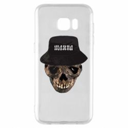 Чехол для Samsung S7 EDGE Skull in hat and text