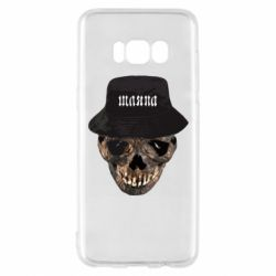 Чехол для Samsung S8 Skull in hat and text