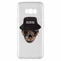 Чехол для Samsung S8+ Skull in hat and text