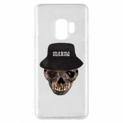 Чехол для Samsung S9 Skull in hat and text