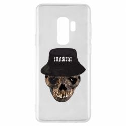 Чехол для Samsung S9+ Skull in hat and text