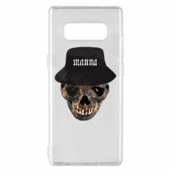 Чехол для Samsung Note 8 Skull in hat and text